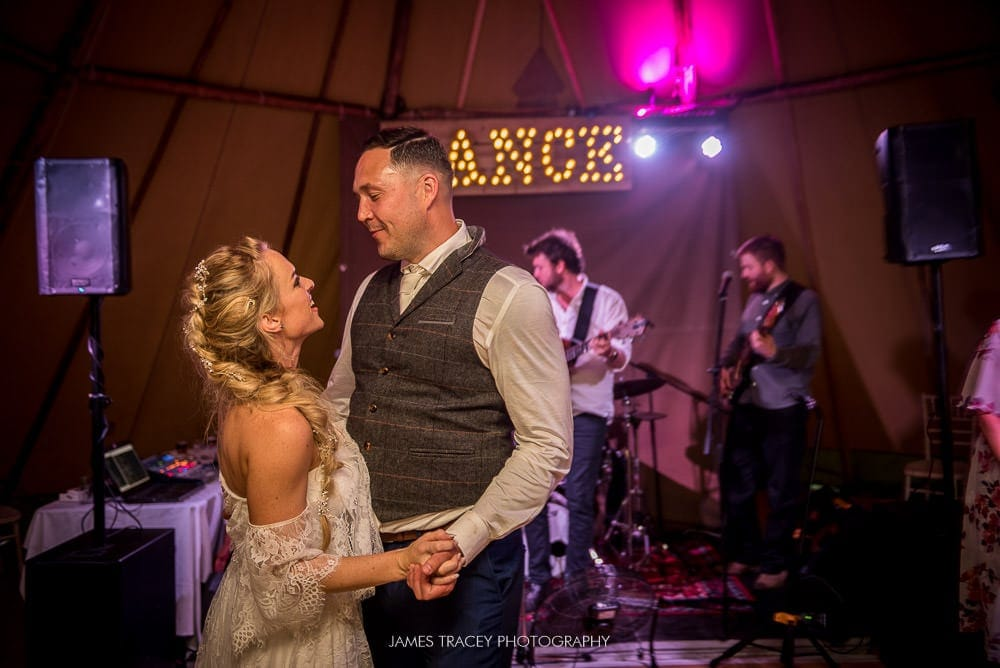 wedding first dance athidden river cabins