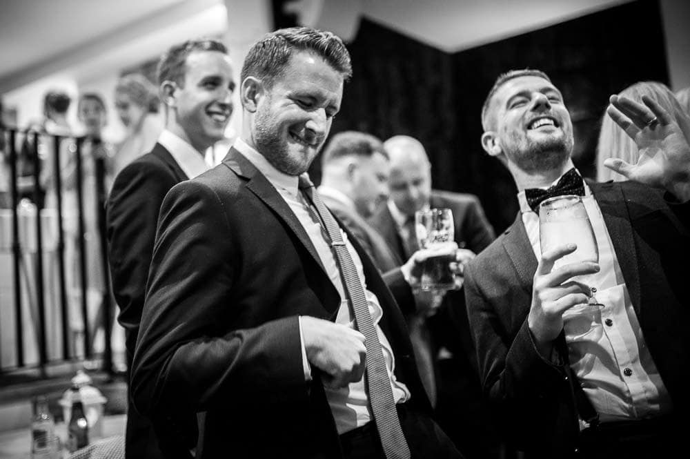 wedding guest enjoying himself