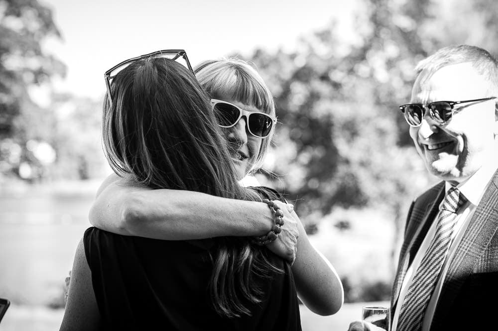 wedding hugs at the mere knutsford