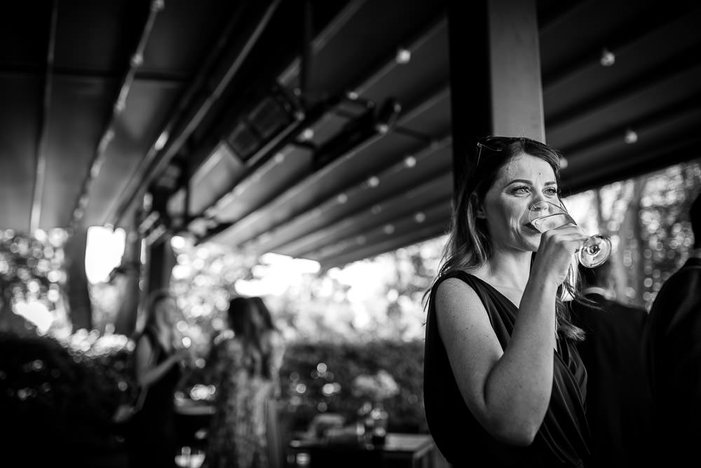 bridesmaid drinking