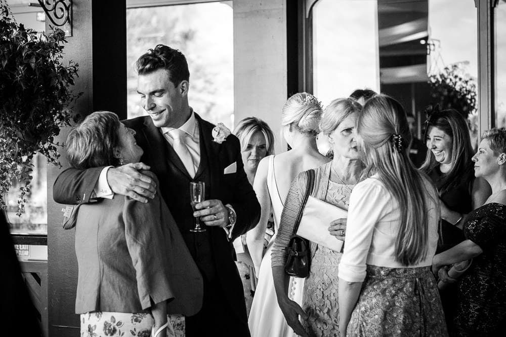 more hugs at wedding reception