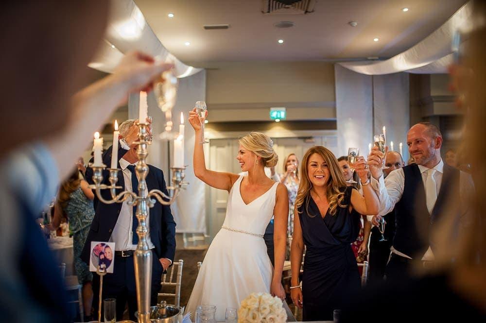 bride toasting her husband
