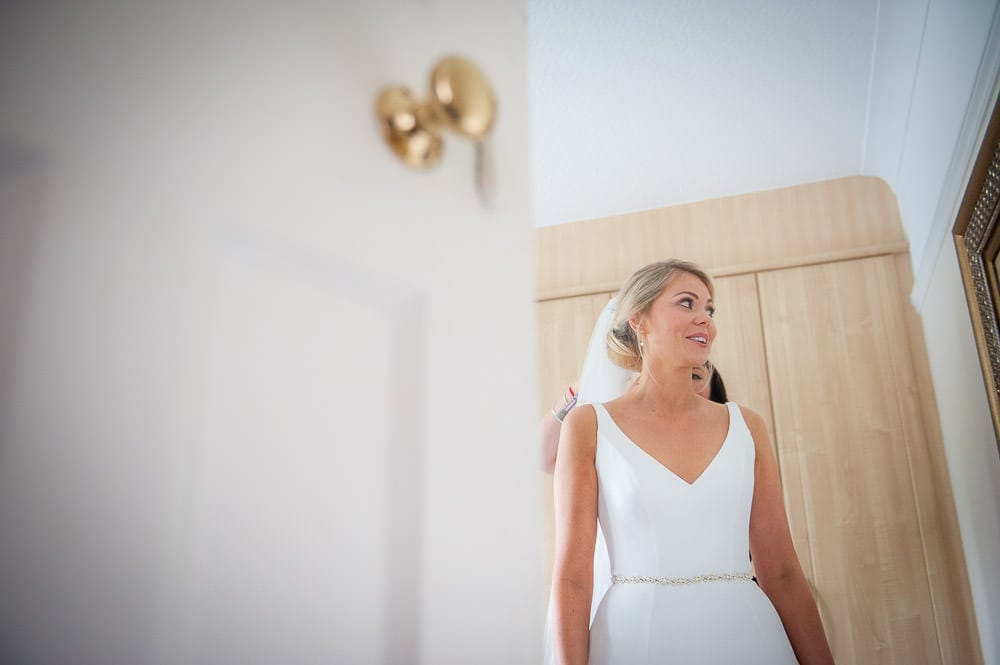 bride in colour in her dress