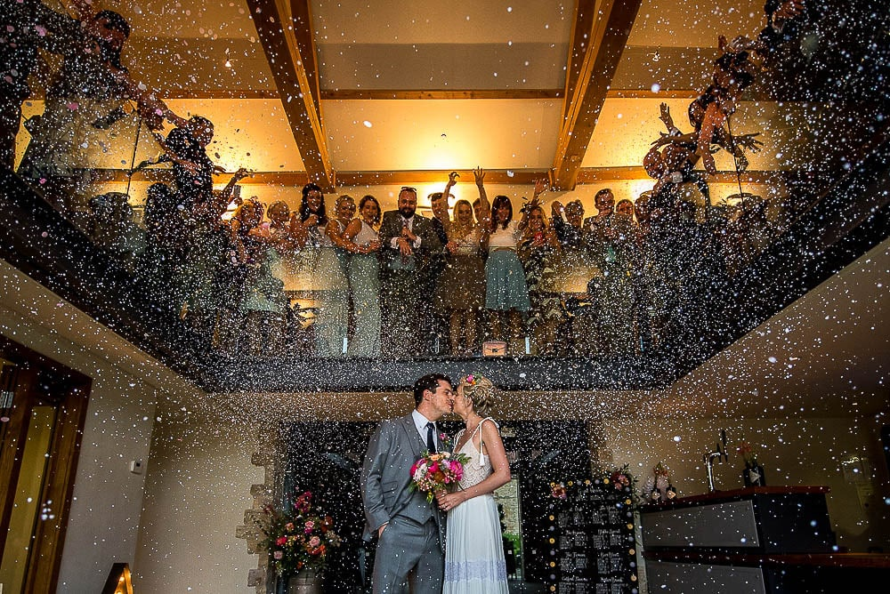 confetti photo at priory cottages