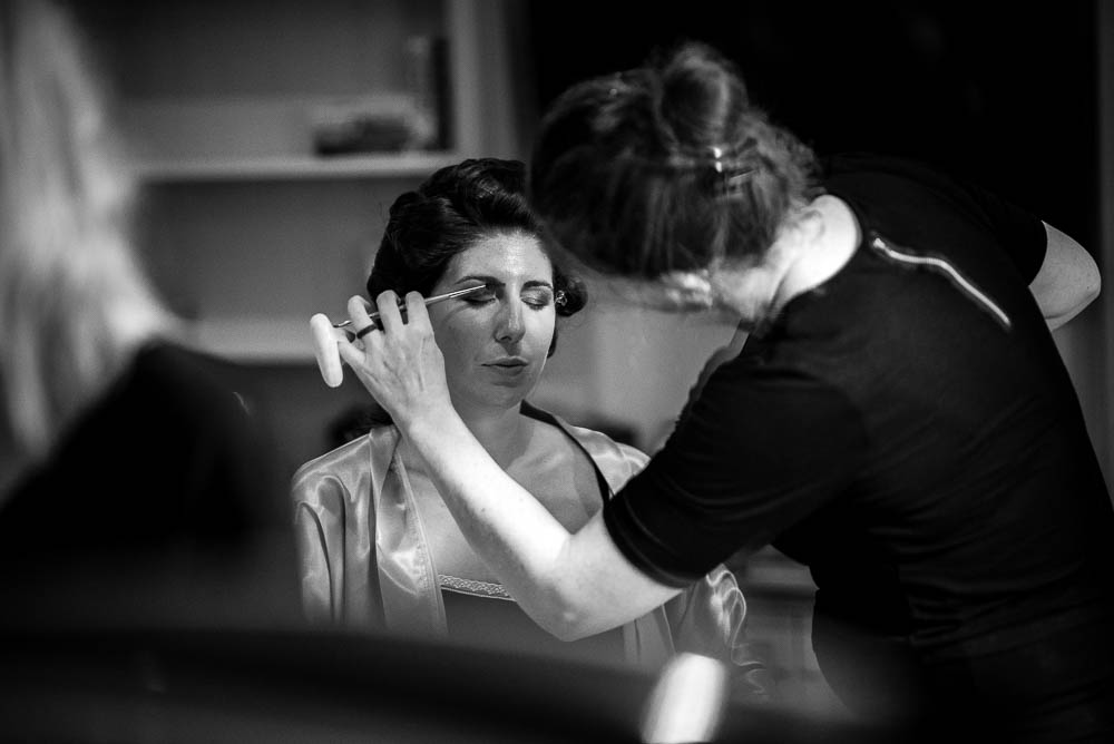 bride make up at King street townhouse