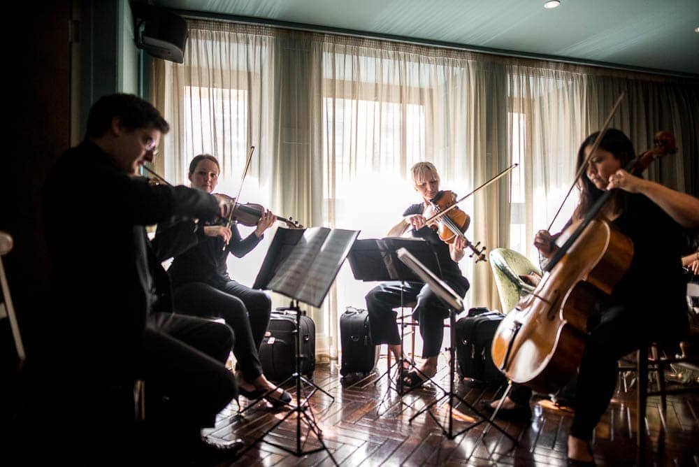 string quartet at a wedding