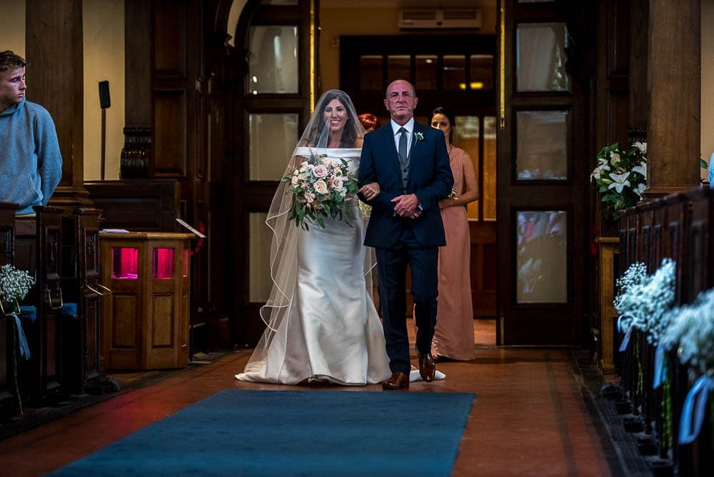 bride arriving at st ann's in manchester