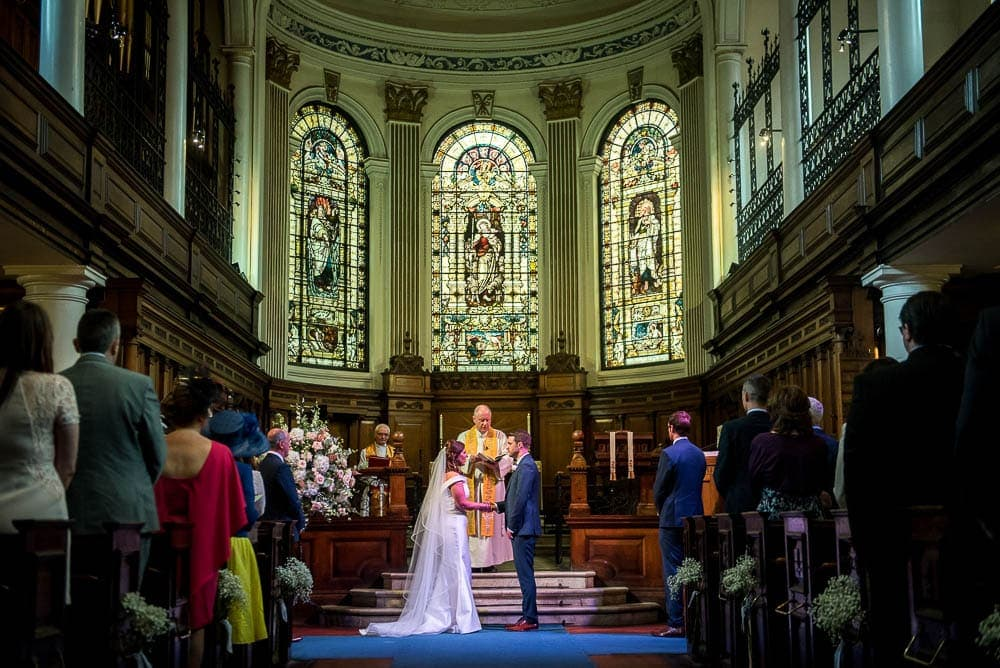 wedding inside st anns church manchester