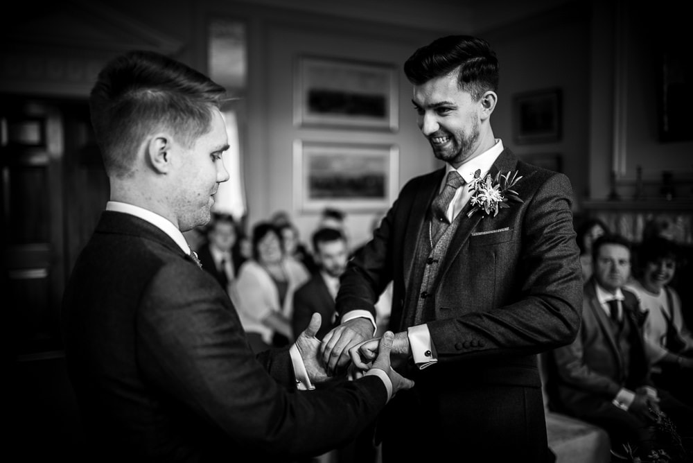 same sex wedding at rushton hall