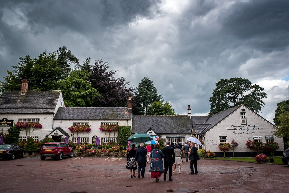overcast clouds at swettenham arms in cheshire