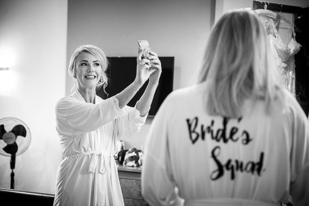 bridesmaid having a selfie