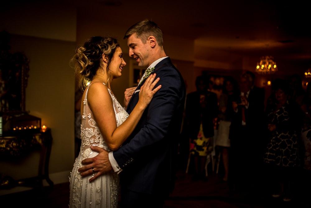 wedding first dance at swettenham arms