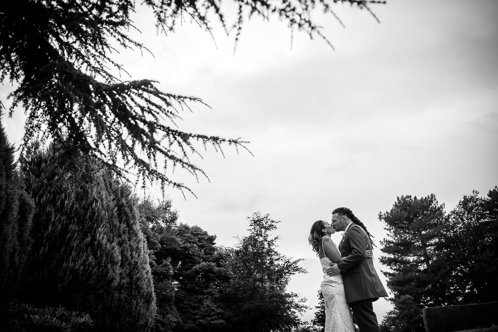 wedding photos in grounds of eaves hall