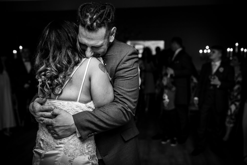 emotional first dance at eaves hall