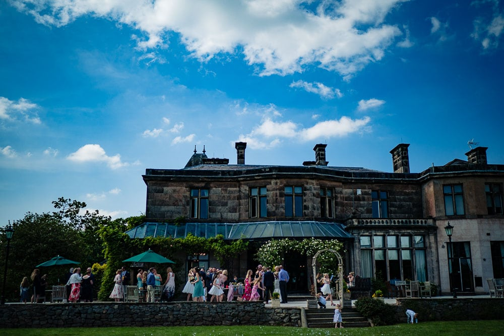 wide angle of rookery hall wedding