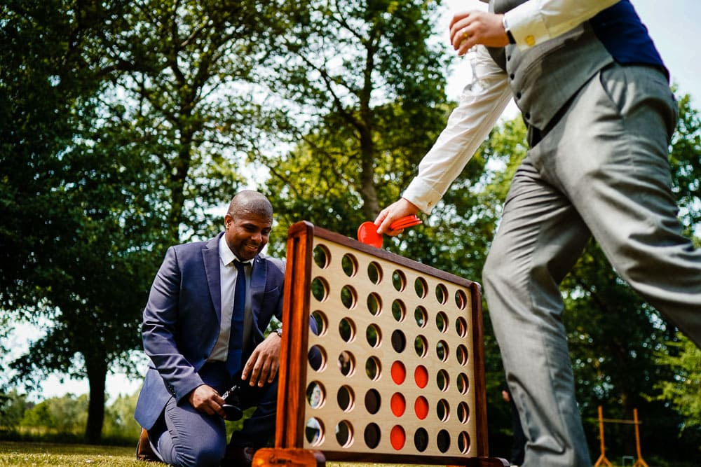 garden games at oak tree of peover wedding