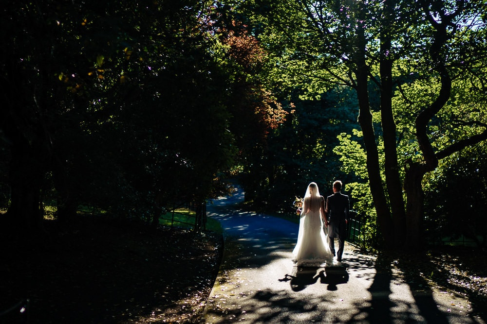 bride and groom at crwo hill