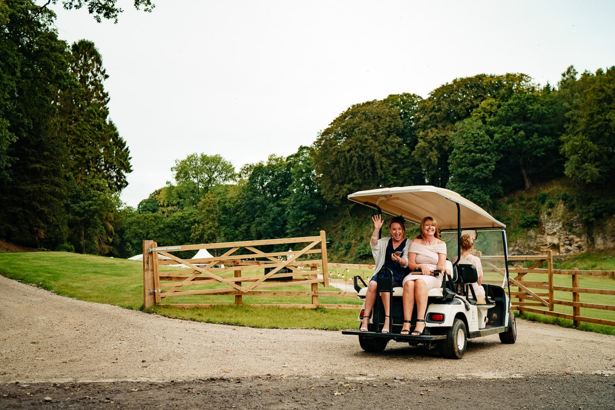 golf buggy at gisburn park estate