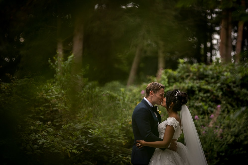 atmospheric couple photo at hillbark hotel wedding