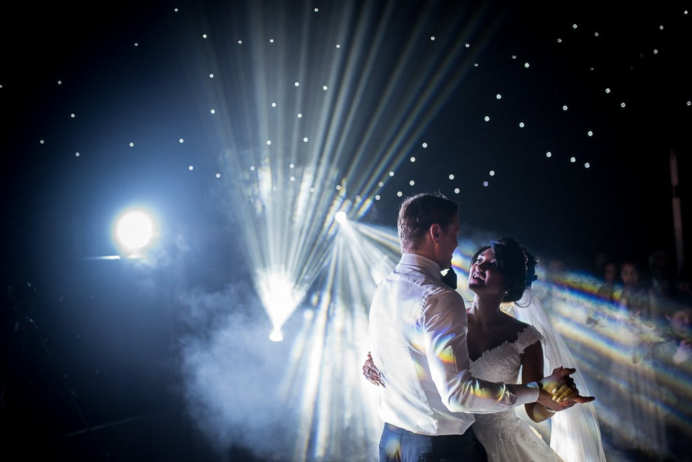 spectacular first dance photo at hillbark hotel