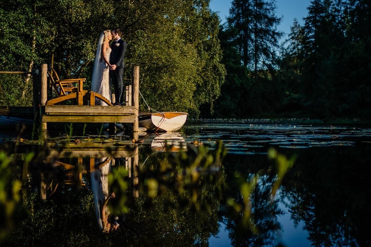 couple on jetty at the gilpin
