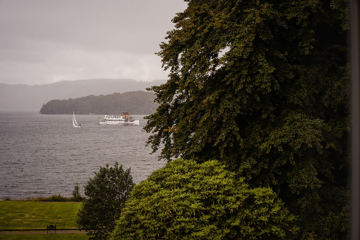 rain over lake windermere
