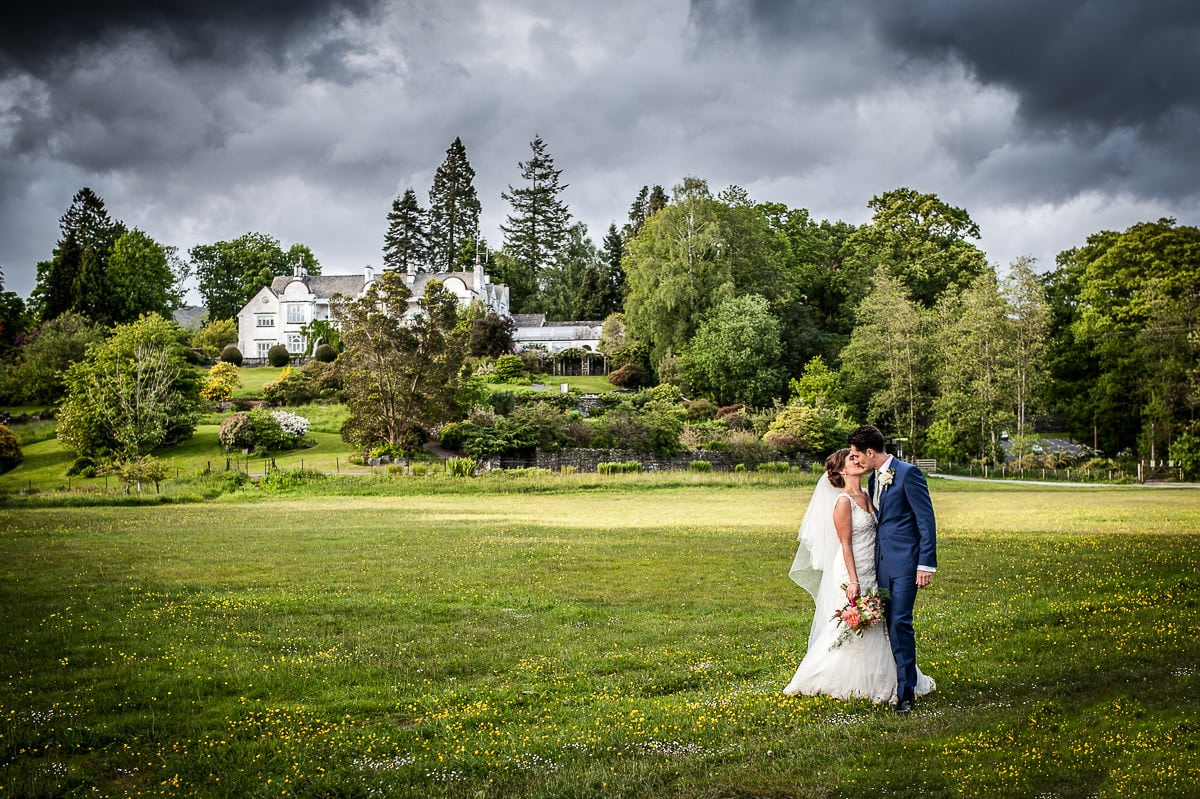 wide angle of wedding venue