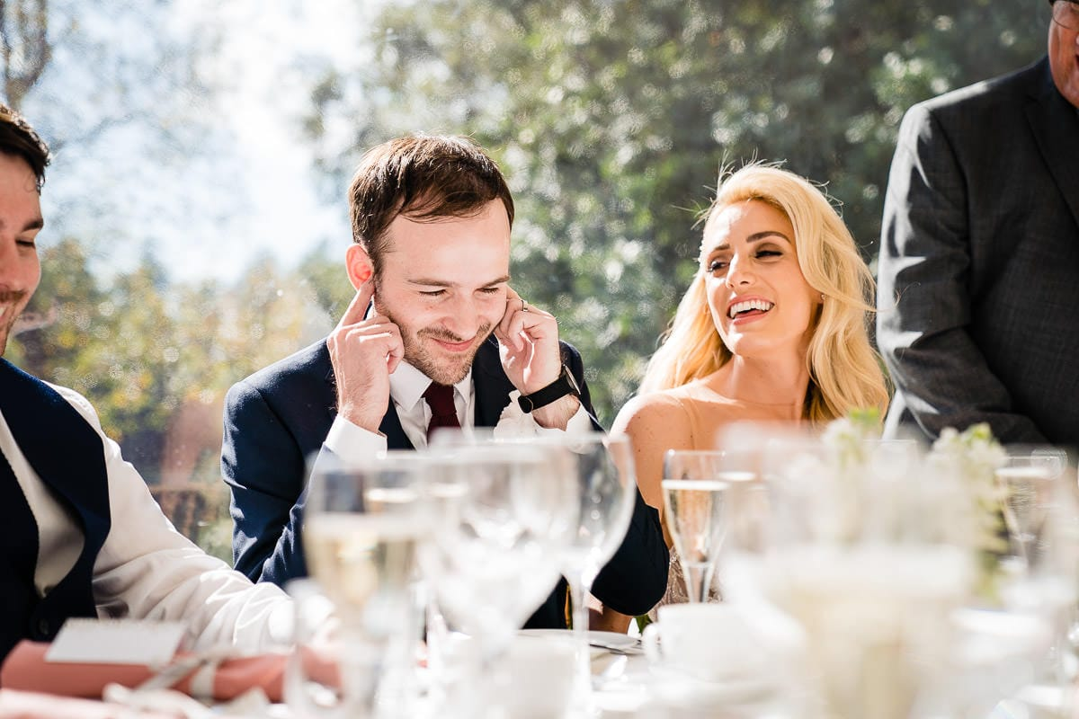 groom joking