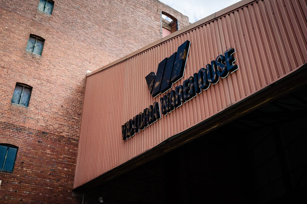 victoria warehouse sign