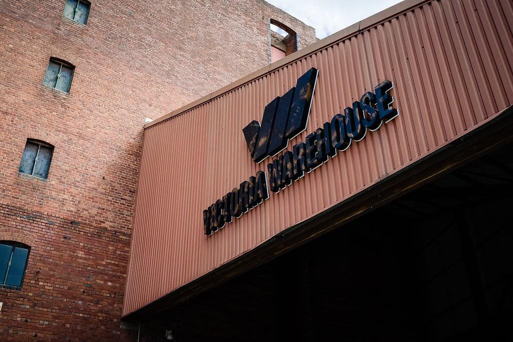 victoria warehouse sign