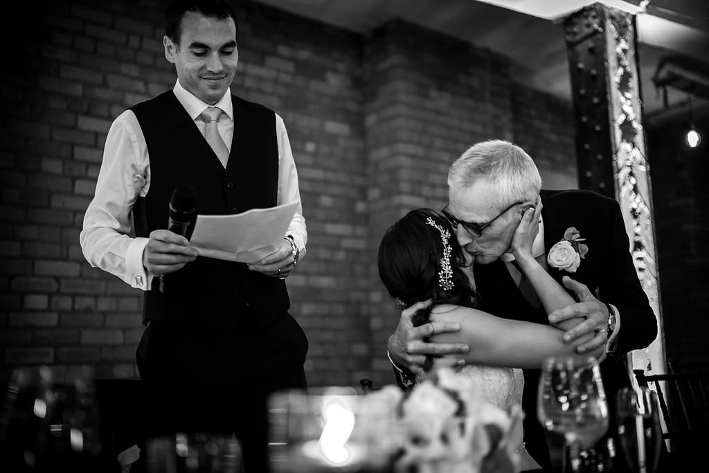 bride kiss for her father