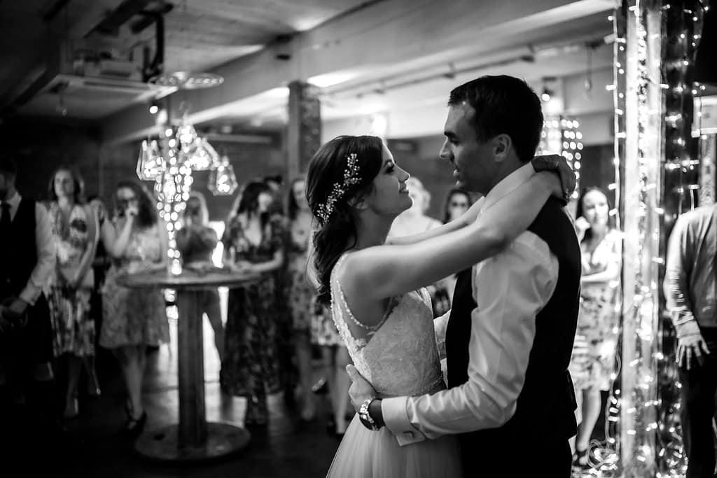 first dance at victoria warehouse wedding