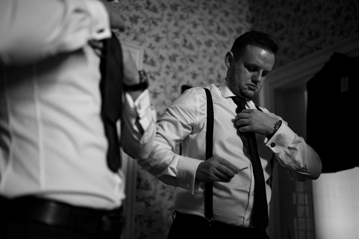 groom preparation at knowsley hall