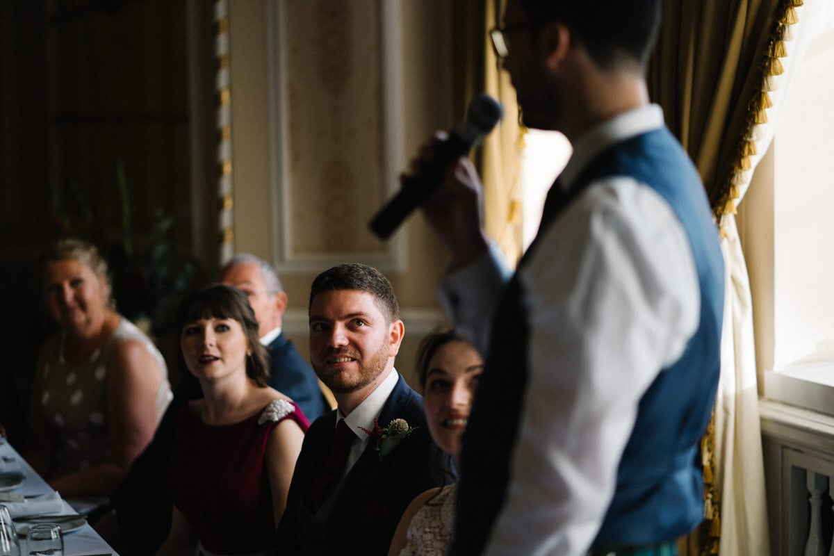 the best man speech at Manchester hall