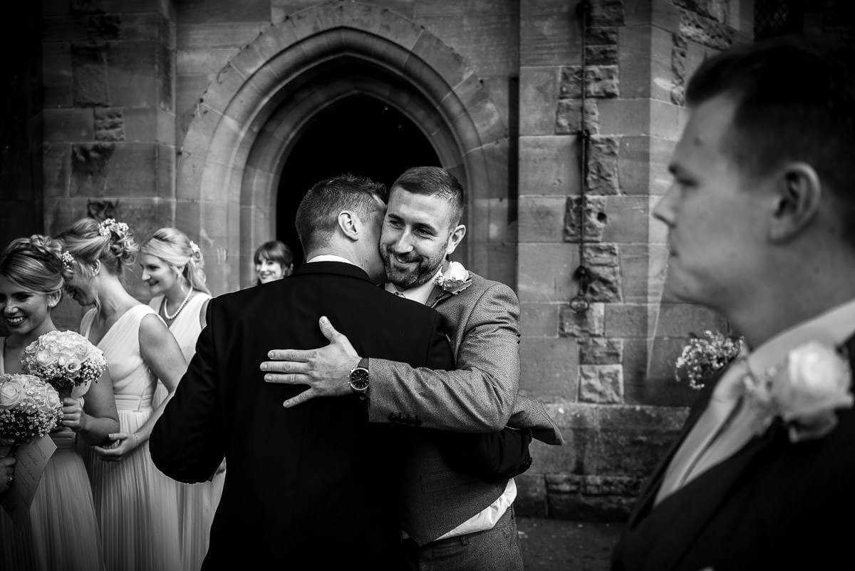 guest hugs at peckforton castle