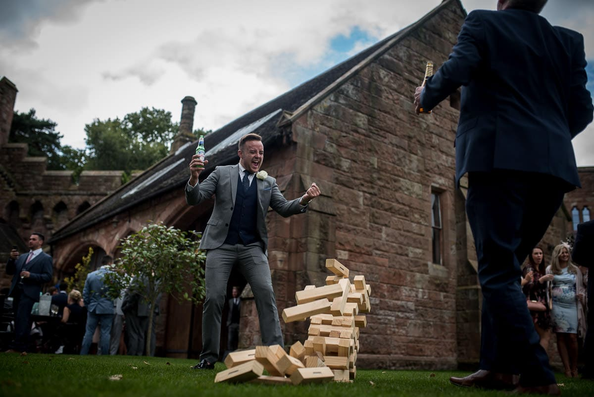 giant jenga at peckforton castle