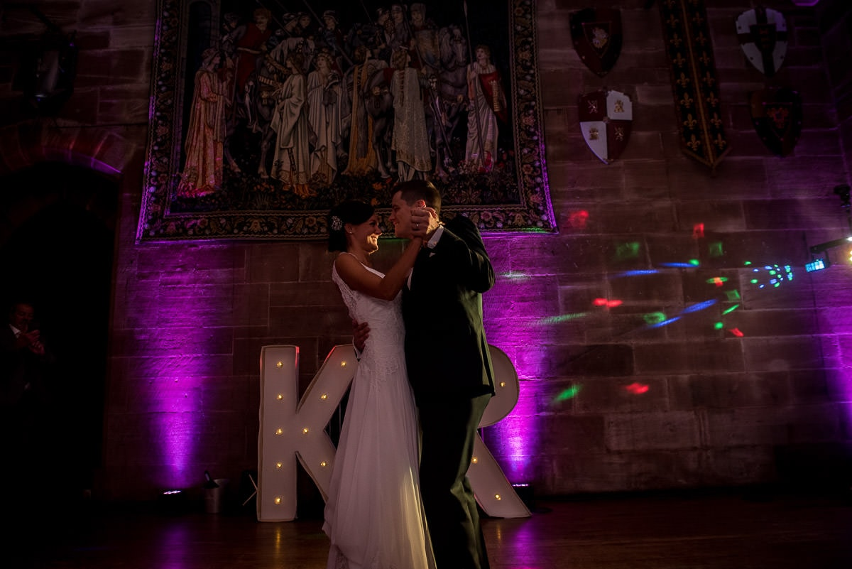 first dance at peckforton castle