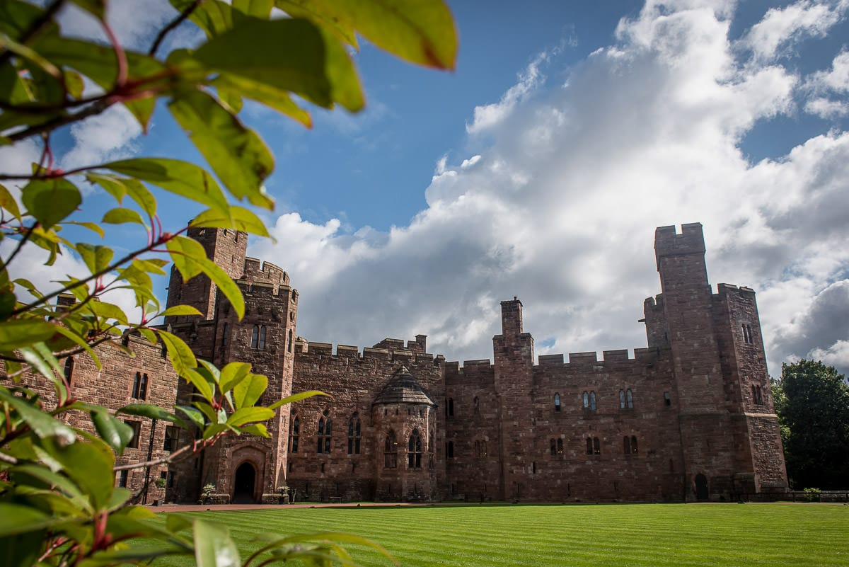 peckforton castle in the sun