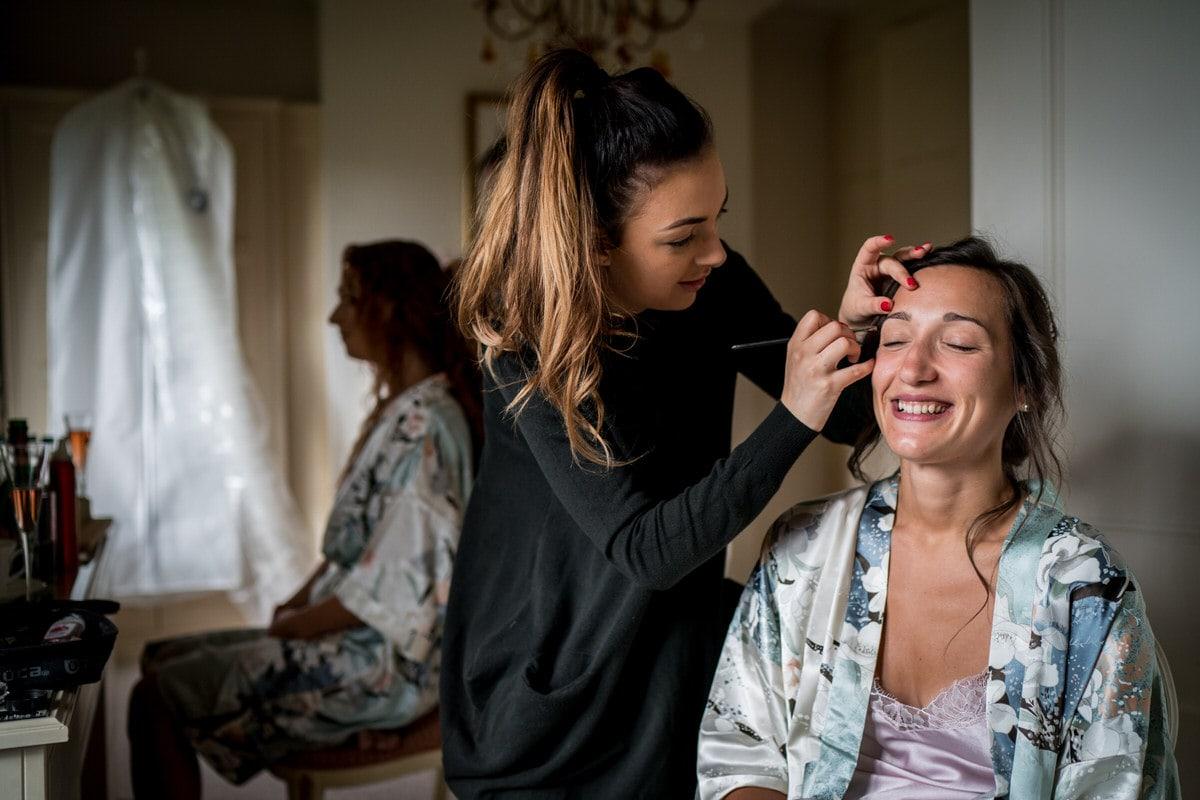 bridal make up at colshaw hall