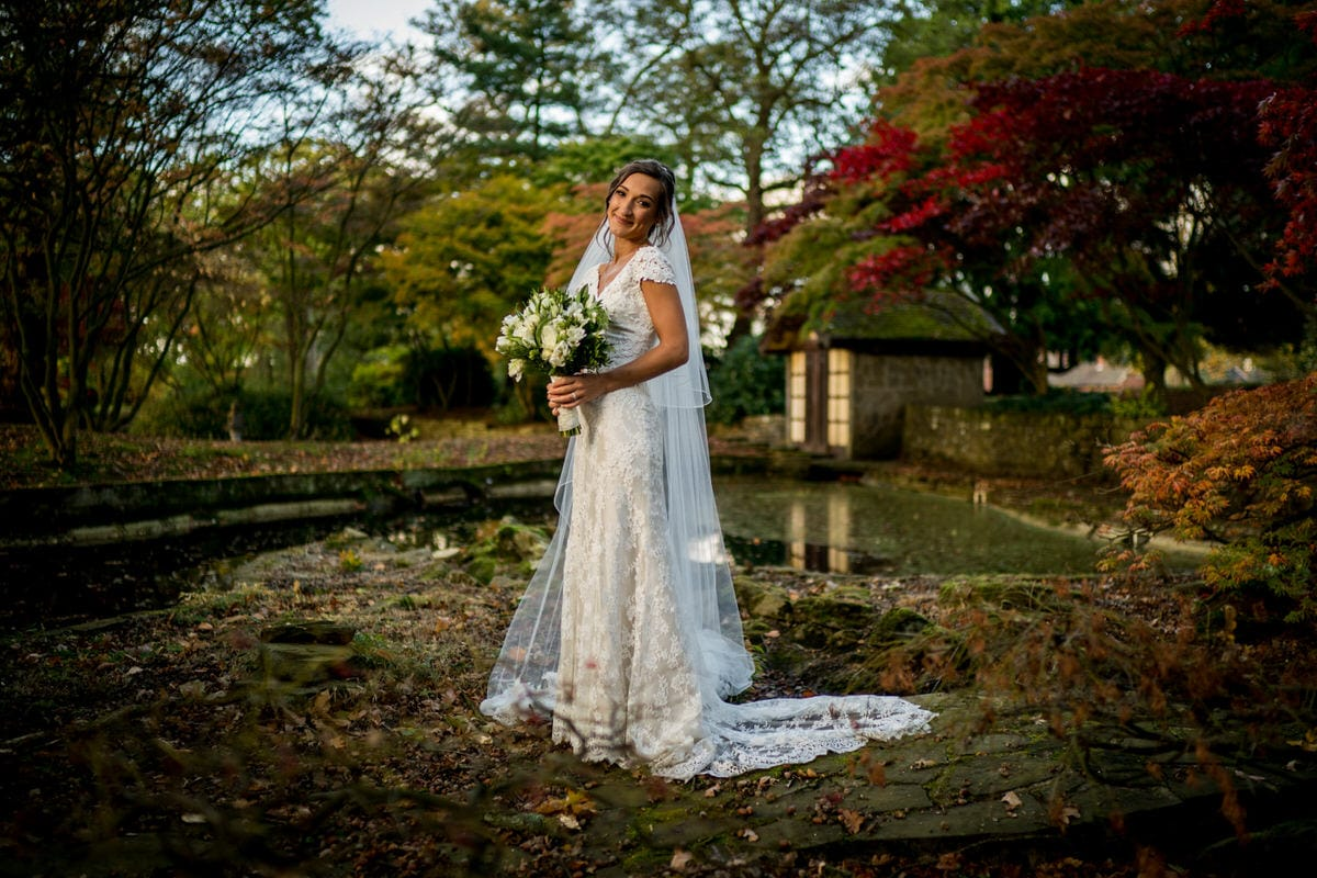 bridal portrait at colshaw hall