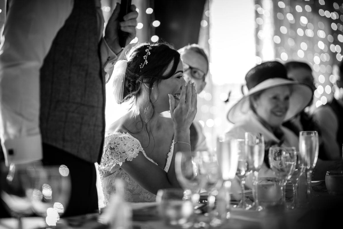 laughing bride at colshaw hall