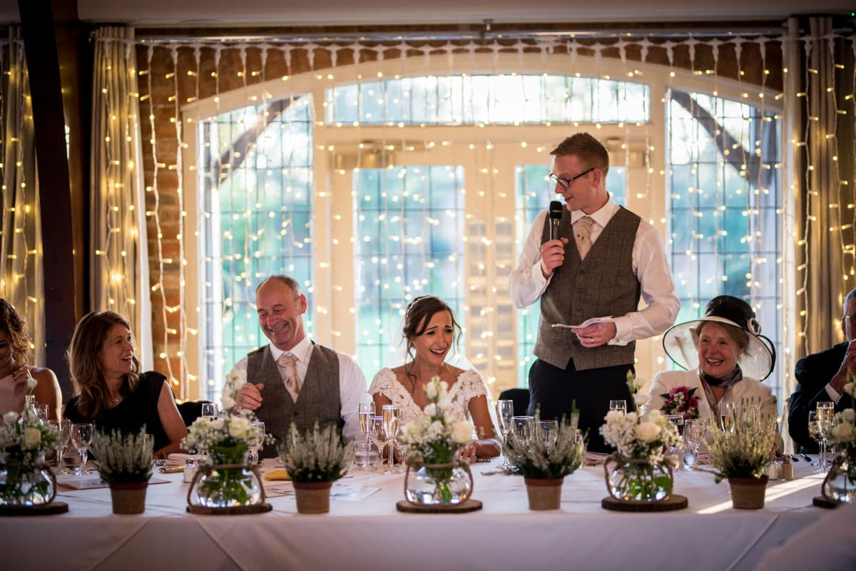 groom speech at colshaw hall