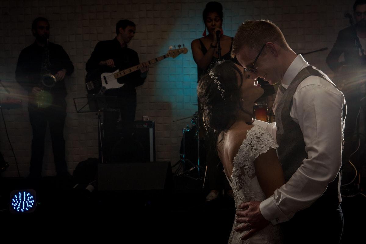 wedding first dance at colshaw hall