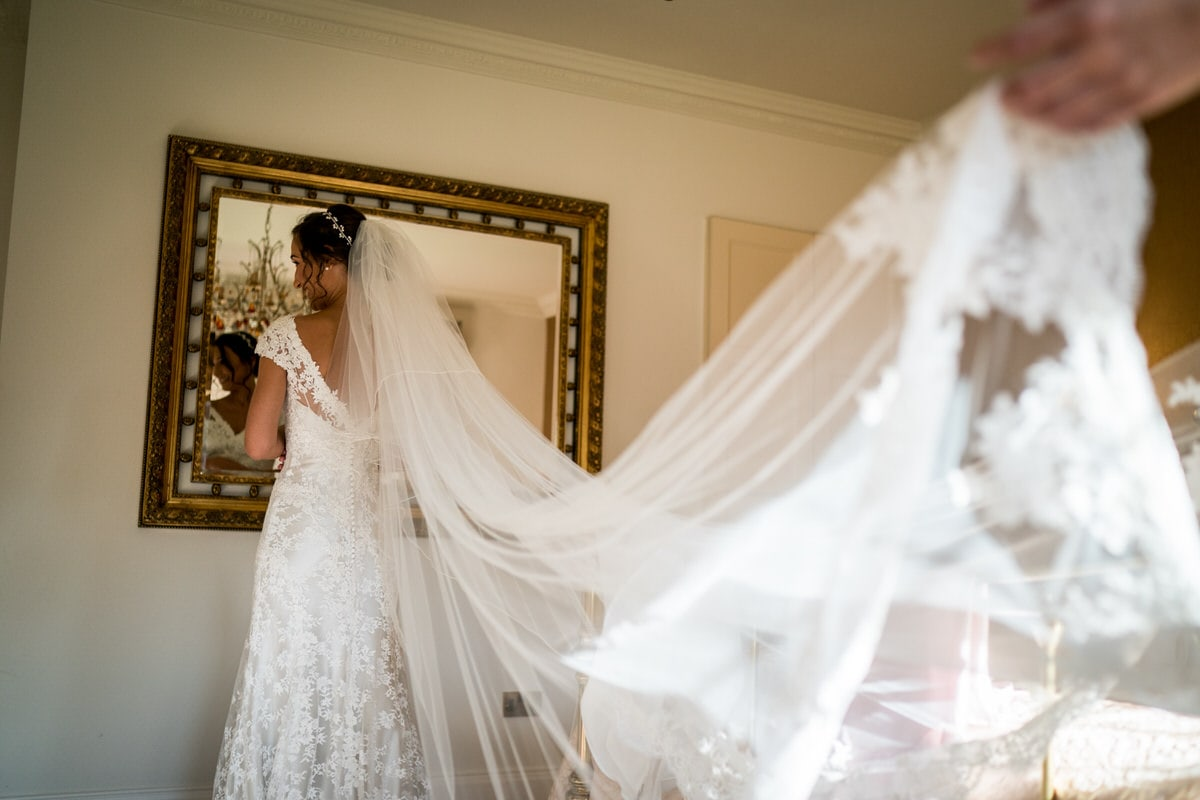wedding veil at colshaw hall