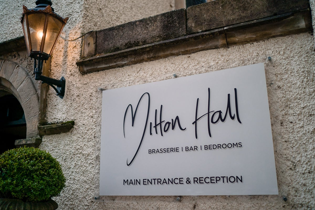 mitton hall sign