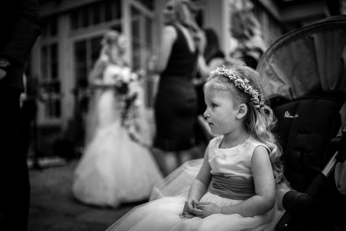 flower girl at mitton hall
