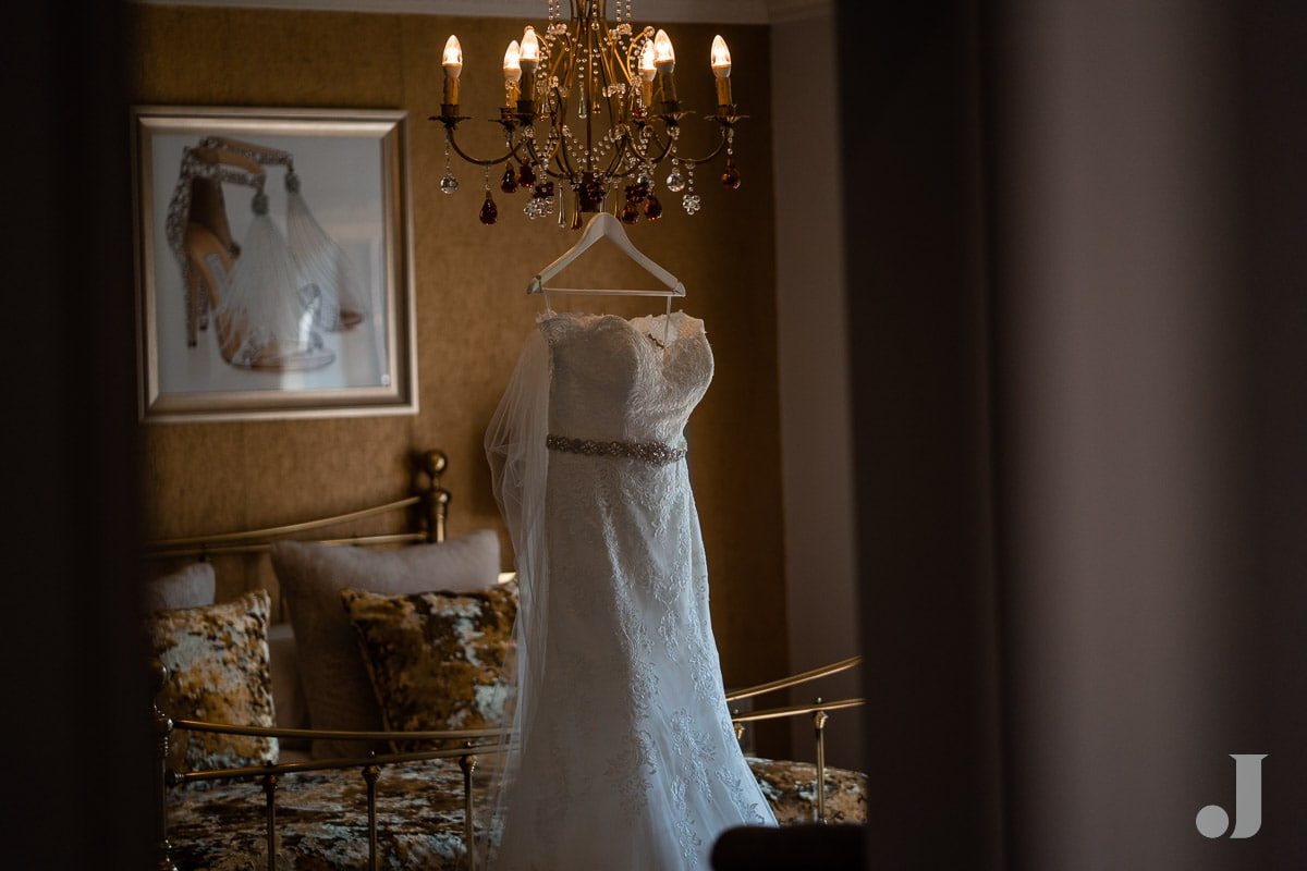Say Yes to the dress wedding dress at Colshaw Hall