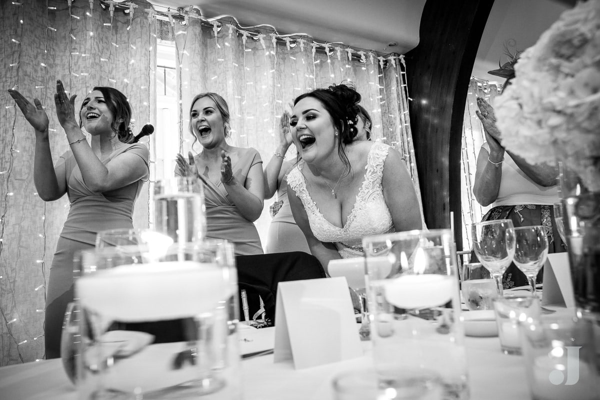 more laughter at wedding speeches
