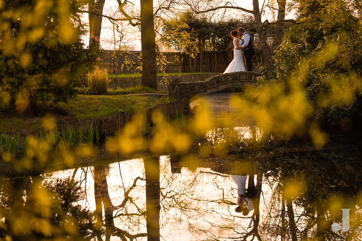 couple on bride at Colshaw Hall