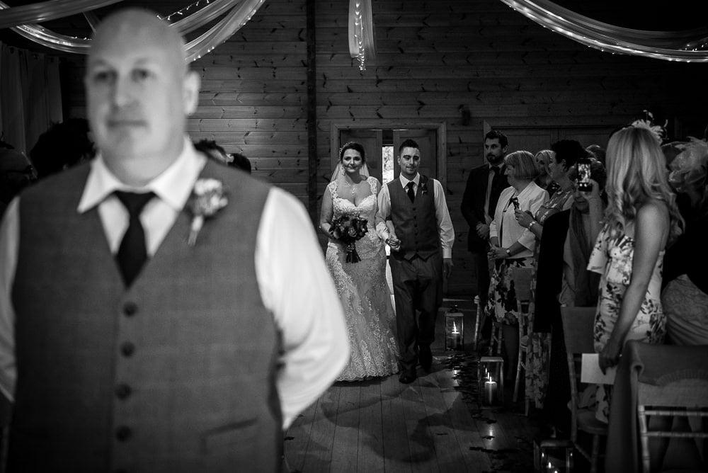 bride arriving at styal lodge